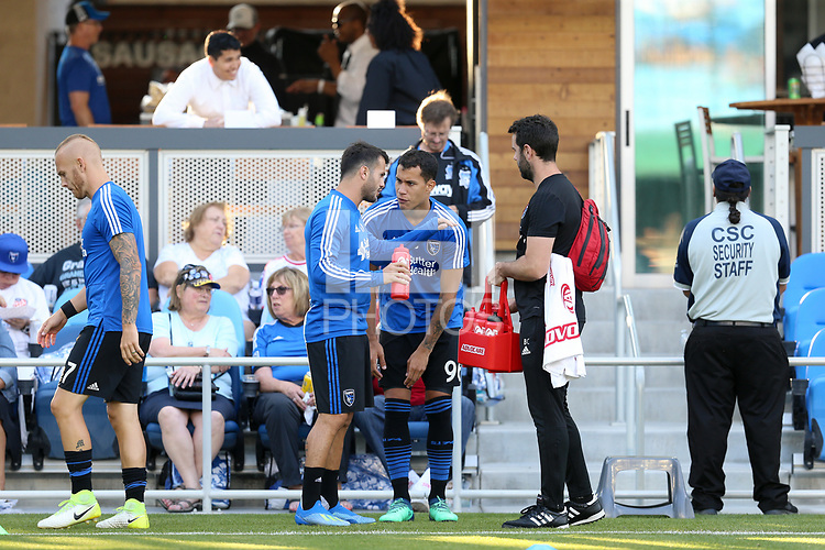 San Jose, CA - Saturday July 28, 2018: Luis Felipe during a Major League Soccer (MLS) match between the San Jose Earthquakes and Real Salt Lake at Avaya Stadium.