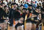 Graduates file into the 2018 Western Nevada College Commencement ceremony, in Carson City, Nev., on Monday, May 21, 2018. <br /> Photo by Cathleen Allison/Nevada Momentum