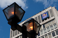 RBC logo is seen on their Place D'Youville corporate office in Quebec city, May 4, 2009. The Royal Bank of Canada (in French, Banque Royale du Canada, and commonly RBC in either language) is the largest financial institution in Canada, measured deposits, revenues, and market capitalization.