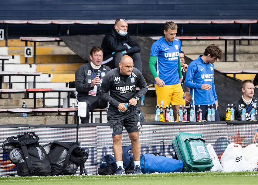 Preston North End's manager Alex Neil (centre) <br /> <br /> Photographer Andrew Kearns/CameraSport<br /> <br /> The EFL Sky Bet Championship - Luton Town v Preston North End - Saturday 20th June 2020 - Kenilworth Road - Luton<br /> <br /> World Copyright © 2020 CameraSport. All rights reserved. 43 Linden Ave. Countesthorpe. Leicester. England. LE8 5PG - Tel: +44 (0) 116 277 4147 - admin@camerasport.com - www.camerasport.com
