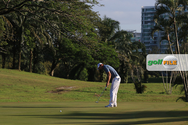 Marcel Siem (GER) on the 4th green during Round 4 of the Maybank Championship on Sunday 12th February 2017.<br /> Picture:  Thos Caffrey / Golffile<br /> <br /> All photo usage must carry mandatory copyright credit     (&copy; Golffile | Thos Caffrey)