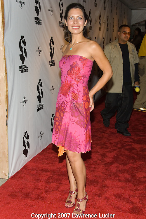 "NEW YORK - AUGUST 20:  Actress Danielle Camastra arrives at the premiere of ""Illegal Tender"" August 20, 2007, at Chelsea West Cinemas in New York City.  (Photo by Lawrence Lucier)"