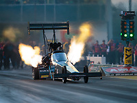 Mar 15, 2019; Gainesville, FL, USA; NHRA top fuel driver Scott Palmer during qualifying for the Gatornationals at Gainesville Raceway. Mandatory Credit: Mark J. Rebilas-USA TODAY Sports