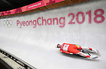 Mateusz Sochowicz (POL). Mens luge. Pyeongchang2018 winter Olympics. Alpensia sliding centre. Alpensia. Gangneung. Republic of Korea. 11/02/2018. ~ MANDATORY CREDIT Garry Bowden/SIPPA - NO UNAUTHORISED USE - +44 7837 394578
