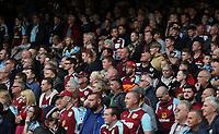 Burnley fans <br /> <br /> Photographer Rachel Holborn/CameraSport<br /> <br /> The Premier League - Everton v Burnley - Sunday 1st October 2017 - Goodison Park - Liverpool<br /> <br /> World Copyright &copy; 2017 CameraSport. All rights reserved. 43 Linden Ave. Countesthorpe. Leicester. England. LE8 5PG - Tel: +44 (0) 116 277 4147 - admin@camerasport.com - www.camerasport.com