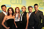Melrose Cast - Thomas Calabro, Laura Leighton, Ashlee Simpson-Wentz, Katie Cassidy, Shaun Sipos and Colin Egglesfield at the CW Upfront 2009 on May 21, 2009 at Madison Square Gardens, New York NY. (Photo by Sue Coflin/Max Photos)