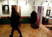 Simpatizzanti del centrosinistra votano in un circolo del Partito Democratico, in occasione delle elezioni primarie per la scelta del nuovo segretario, a Roma, 8 dicembre 2013.<br /> Center-left sympathizers vote at a Democratic Party's circle on the occasion of the primary elections to choose the new leader, in Rome, 8 December 2013.<br /> UPDATE IMAGES PRESS/Riccardo De Luca