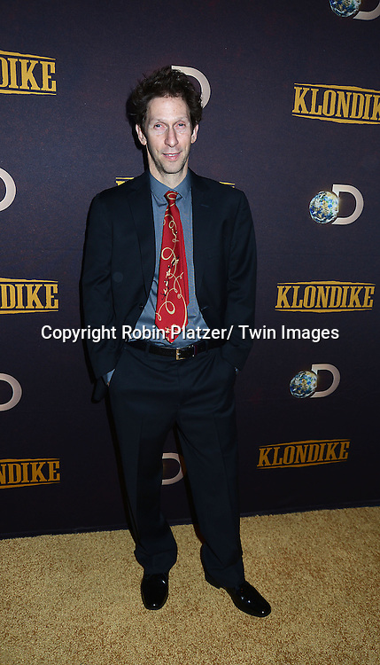 """Tim Blake Nelson attends the premiere of Discovery Channel's first scripted series  """" Klondike"""" on January 16, 2014 at Best Buy Theater in New York City. The series will run on January 20, 21 and 22, 2014."""