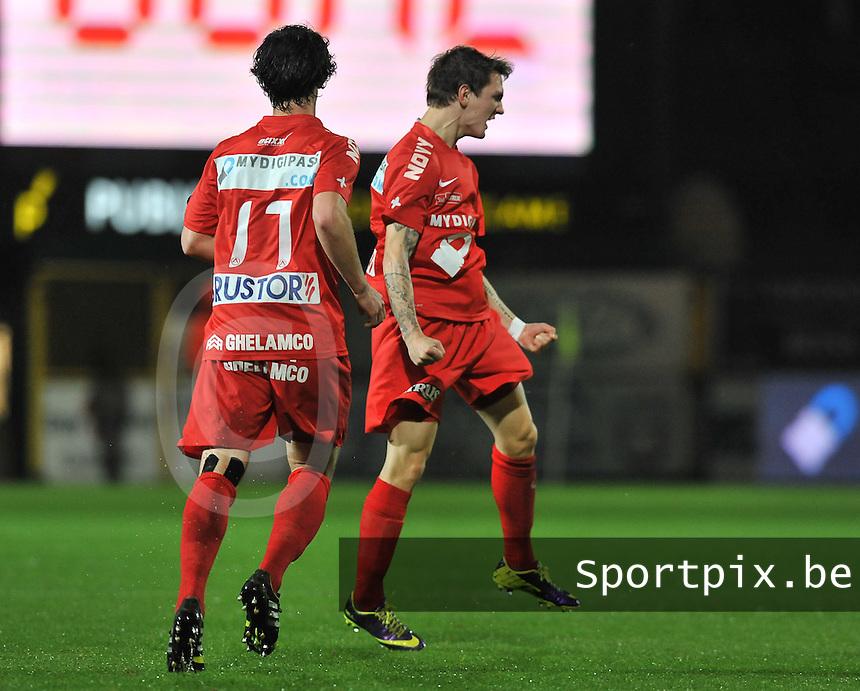 KV Kortrijk - KV Oostende : Benito Raman (rechts) viert zijn doelpunt <br /> foto VDB / Bart Vandenbroucke