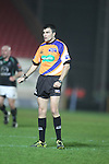Referee Marius Mitrea.RaboDirect Pro12.Scarlets v Connacht.02.03.12.©STEVE POPE