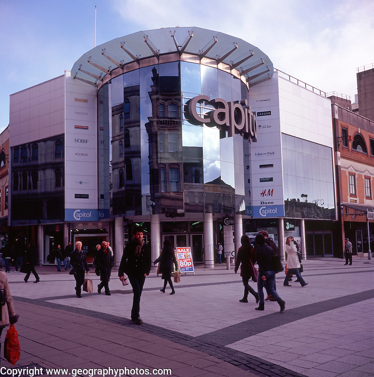 Capitol shopping centre, Cardiff, Wales