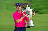 Justin Thomas (USA) with the trophy for winning the PGA Championship at the Quail Hollow Club in Charlotte, North Carolina. 8/13/2017.<br /> Picture: Golffile | Ken Murray<br /> <br /> <br /> All photo usage must carry mandatory copyright credit (&copy; Golffile | Ken Murray)