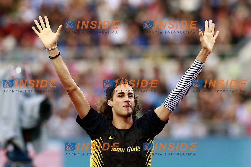 Gianmarco Tamberi ITA High Jump Men  <br /> Roma 02-06-2016 Stadio Olimpico.<br /> IAAF Diamond League 2016<br /> Atletica Legera <br /> Golden Gala Meeting - Track and Field Athletics Meeting<br /> Foto Cesare Purini / Insidefoto