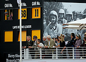 10th September 2017, Goodwood Estate, Chichester, England; Goodwood Revival Race Meeting; Spectators watch Racing