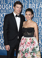 MOUNTAIN VIEW, CA - DECEMBER 3:  Ashton Kutcher and Mila Kunis at the 6th Annual Breakthrough Prize at NASA Ames Research Center on December 3, 2017 in Mountain View, California. (Photo by Scott Kirkland/NatGeo/PictureGroup)