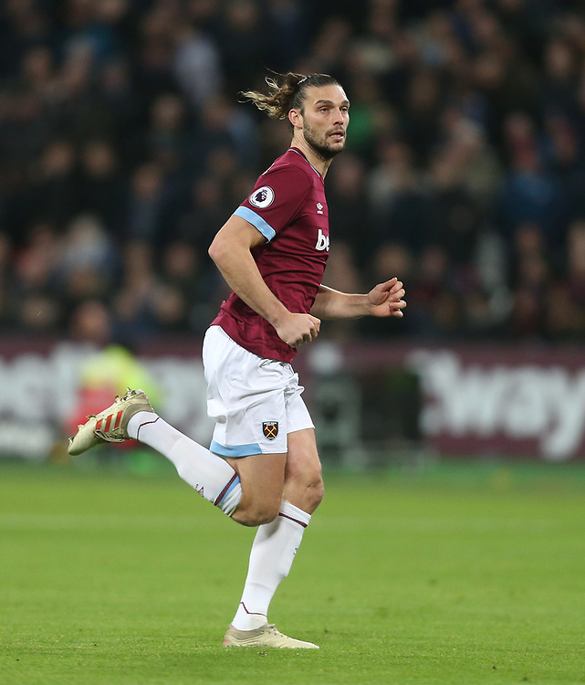 West Ham United's Andy Carroll<br /> <br /> Photographer Rob Newell/CameraSport<br /> <br /> The Premier League - West Ham United v Brighton and Hove Albion - Wednesday 2nd January 2019 - London Stadium - London<br /> <br /> World Copyright © 2019 CameraSport. All rights reserved. 43 Linden Ave. Countesthorpe. Leicester. England. LE8 5PG - Tel: +44 (0) 116 277 4147 - admin@camerasport.com - www.camerasport.com
