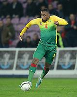 FUSSBALL   INTERNATIONAL   Testspiel    Albanien - Kamerun       14.11.2012 Jean Armel Kana Biyik (Kamerun) am Ball