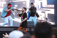 Dead obies performs on the main stage of the Festival d'ete de Quebec (FEQ) in Quebec city Friday July 7, 2017.
