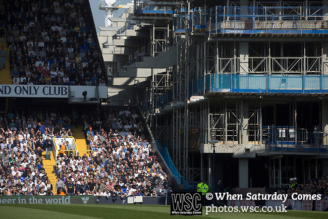 Tottenham Hotspur 4 Watford 0, 08/04/2017. White Hart Lane, Premier League. The partly-demolished corner of the ground between the East and North Stands pictured as Tottenham Hotspur took on Watford in an English Premier League match at White Hart Lane. Spurs were due to make an announcement in April 2016 regarding when they would move out of their historic home and relocate to Wembley as their new stadium was completed. Spurs won this match 4-0 watched by a crowd of 31,706, a reduced attendance figure due to the ongoing ground redevelopment. Photo by Colin McPherson.