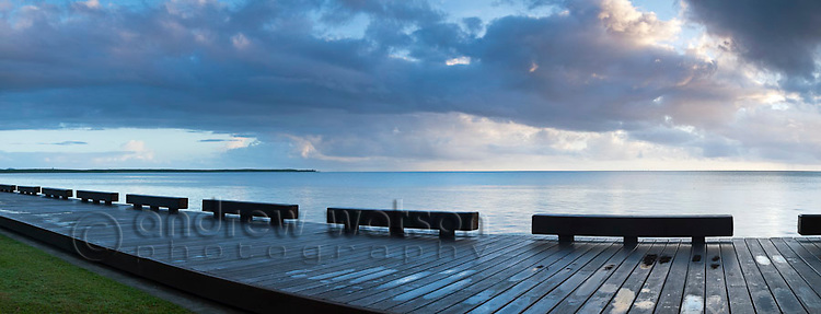 The Esplanade boardwalk at dawn.  Cairns, Queensland, Australia