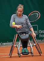 Paris, France, 01 June, 2016, Tennis, Roland Garros, Womans Wheelchair tennis, Jiske Griffioen (NED)<br /> Photo: Henk Koster/tennisimages.com