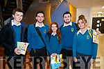 Ethan Kelly, Joshua Maguire, Niamh O'Regan, Sean Trant and Clodagh Thompson, Mercy Mounthawk Secondary School students, pictured at IT Tralee Open Day on Friday morning last.