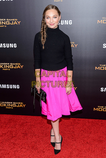 November 18 , 2015 - New York, NY -  Maddie Ziegler at the &quot;Hunger Games: Mockingjay pt 2&quot; Special Screening. <br /> CAP/ADM/MSA<br /> &copy;MSA/ADM/Capital Pictures