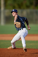 Zachary Murray (38) during the WWBA World Championship at the Roger Dean Complex on October 11, 2019 in Jupiter, Florida.  Zachary Murray attends Lanier High School in Buford, GA and is committed to Louisiana State.  (Mike Janes/Four Seam Images)
