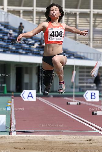Maya Nakanishi,<br /> MAY 1, 2016 - Athletics :<br /> Japan Para Athletics Championships<br /> Women's Long Jump T44 Final<br /> at Coca Cola West Sports Park, Tottori, Japan.<br /> (Photo by Shingo Ito/AFLO SPORT)