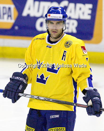 Niclas Wallin (Sweden 7- Carolina Hurricanes) -  Team USA defeated Team Sweden 5-1 on Sunday, April 27, 2008, in an exhibition match at the Cumberland County Civic Center in Portland, Maine, prior to the 2008 World Championships.