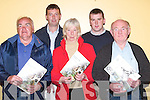 """BREEDING: Teagasc in association with The Irish Horse Board hosted a Seminar on Breeding Sport Horses at the Brandon Hotel, Tralee, on Monday night. Front l-r: Tom """"Bawn"""" McCarthy (Lixnaw), Jean Campbell (Tralee) and Michael Daly (Kilcummin). Back l-r: Pat Cronin (Killarney) and Pio Boyle (Currow).."""