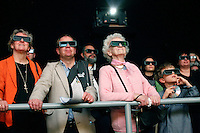 People watch 3D film about water in Forum exhibition Hall, the site of the Bright Green Conference. United Nations Climate Change Conference (COP15) was held at Bella Center in Copenhagen from the 7th to the 18th of December, 2009. A great deal of groups tried to voice their opinion and promote their cause in various ways. The conference and demonstrations was covered by thousands of photographers and journalists from all over the world...©Fredrik Naumann/Felix Features.