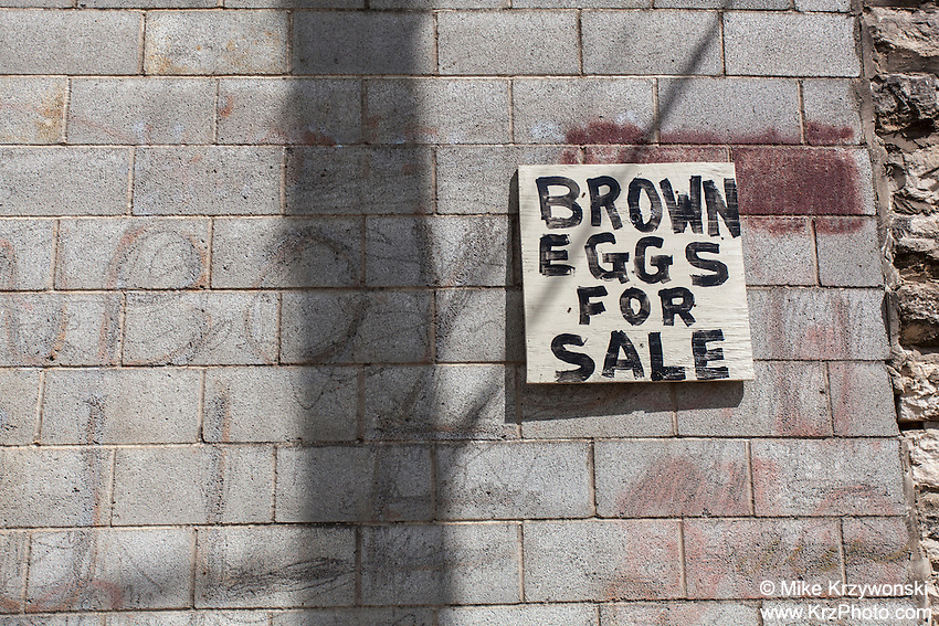 """Brown Eggs For Sale"" sign in Turnersville, TX"