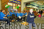 DANCING: Sean Kissane of Lixnaw Comhaltas who entertained customers at the Bank of Ireland in Tralee .on Friday as part of Seachtain na Gaeilge.