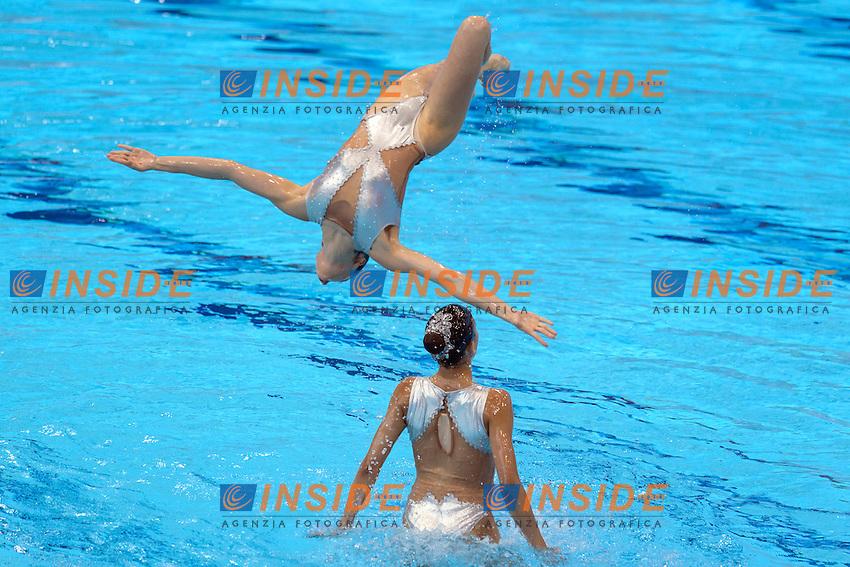 PORTUGAL POR <br /> COSTA Barbara / BAPTISTA Ana Isabel<br /> MARTINS Maria Do Carmo / FARIA Filipa<br /> VIEIRA Cheila / GONCALVES Maria Beatriz<br /> GONCALVES Maria M. / GAMA Beatriz<br /> Team Free Final <br /> London, Queen Elizabeth II Olympic Park Pool <br /> LEN 2016 European Aquatics Elite Championships <br /> Synchronized Swimming <br /> Day 05 13-05-2016<br /> Photo Andrea Staccioli/Deepbluemedia/Insidefoto
