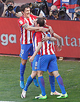 Atletico de Madrid's Stefan Savic, Saul Niguez and Diego Godin celebrate goal during La Liga match. March 19,2017. (ALTERPHOTOS/Acero)