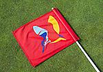 LEGEMEER - vlag met logo , BurgGolf golfbaan St. Nicolaasga. COPYRIGHT KOEN SUYK