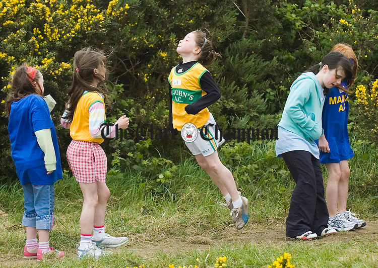 Warming up for the long jump at the Clare Track and Field championships at Mullagh. Photograph by John Kelly.
