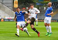 v.l. Dario Dumic (SV Darmstadt 98), Viktor Gyoekeres (FC St. Pauli), Tim Skarke (SV Darmstadt 98)<br />  - 23.05.2020: Fussball 2. Bundesliga, Saison 19/20, Spieltag 27, SV Darmstadt 98 - FC St. Pauli, emonline, emspor, v.l. Stadionansicht Innenraum, Rasen Uebersicht vor dem Spiel<br /> <br /> <br /> Foto: Florian Ulrich/Jan Huebner/Pool VIA Marc Schüler/Sportpics.de<br /> Nur für journalistische Zwecke. Only for editorial use. (DFL/DFB REGULATIONS PROHIBIT ANY USE OF PHOTOGRAPHS as IMAGE SEQUENCES and/or QUASI-VIDEO)