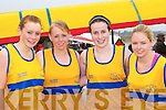Sive rowers competing at Competing at the Ballinskelligs regatta on Sunday was l-r: Ann Marie O'Sullivan, Sinead Sheehan, Aine O'Shea and Sinead O'Shea    Copyright Kerry's Eye 2008