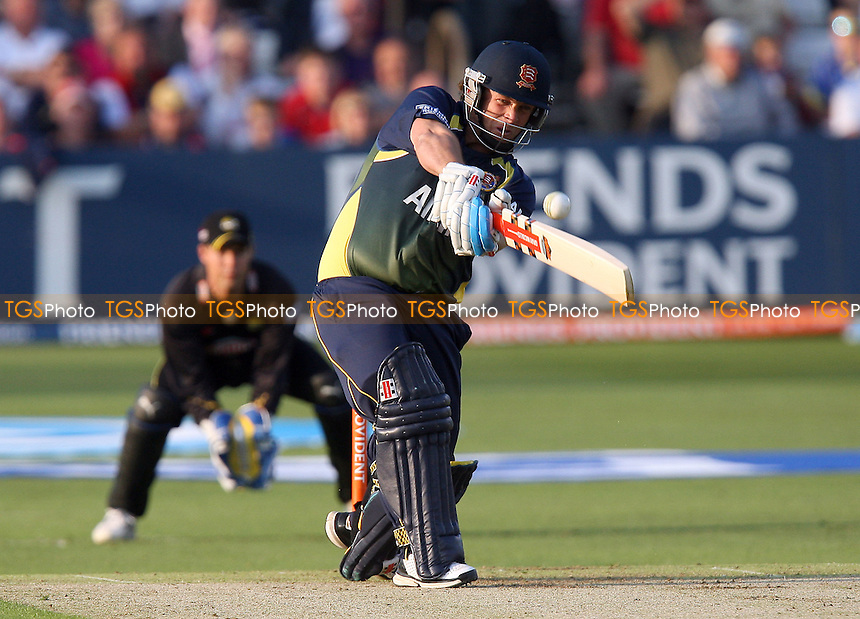 Matt Walker smashes six runs for Essex - Essex Eagles vs Kent Spitfires - Friends Provident Twenty 20 T20 Cricket at the Ford County Ground, Chelmsford -  02/06/10 - MANDATORY CREDIT: Gavin Ellis/TGSPHOTO - Self billing applies where appropriate - Tel: 0845 094 6026