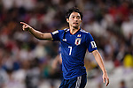 Shibasaki Gaku of Japan gestures during the AFC Asian Cup UAE 2019 Semi Finals match between I.R. Iran (IRN) and Japan (JPN) at Hazza Bin Zayed Stadium  on 28 January 2019 in Al Alin, United Arab Emirates. Photo by Marcio Rodrigo Machado / Power Sport Images