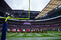 3rd November 2019; Wembley Stadium, London, England; National Football League, Houston Texans versus Jacksonville Jaguars; The flags are presented during the anthems - Editorial Use