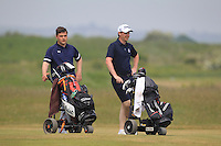 Stuart Bleakley (Shandon Park) and Gary McDermott (Carton House) on the 2nd during Round 4 of the East of Ireland Amateur Open Championship sponsored by City North Hotel at Co. Louth Golf club in Baltray on Monday 6th June 2016.<br /> Photo by: Golffile   Thos Caffrey