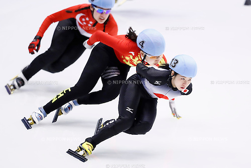 Hitomi Saito (JPN), <br /> FEBRUARY 20, 2017 -Short Track : <br /> Women's 1500m heat <br /> during the 2017 Sapporo Asian Winter Games <br /> at Makomanai Indoor Skating Rink in Hokkaido, Japan. <br /> (Photo by Yohei Osada/AFLO SPORT)