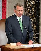The Speaker of the United States House of Representatives John Boehner (Republican of Ohio) calls the House to order prior to Pope Francis delivering an address to a Joint Session of the United States Congress in the US Capitol in Washington, DC on Thursday, September 24, 2015.<br /> Credit: Ron Sachs / CNP<br /> (RESTRICTION: NO New York or New Jersey Newspapers or newspapers within a 75 mile radius of New York City)