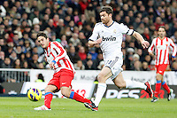 Koke and Xabi Alonso during La Liga Match. December 01, 2012. (ALTERPHOTOS/Caro Marin)