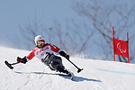 Taiki Morii (JPN), <br /> MARCH 11, 2018 - Alpine Skiing : <br /> Men's Super G Sitting <br /> at Jeongseon Alpine Centre  <br /> during the PyeongChang 2018 Paralympics Winter Games in Pyeongchang, South Korea. <br /> (Photo by Yusuke Nakanishi/AFLO SPORT)