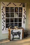Signs and shop details, Randsburg, Calif...Iron tools, window, donkey