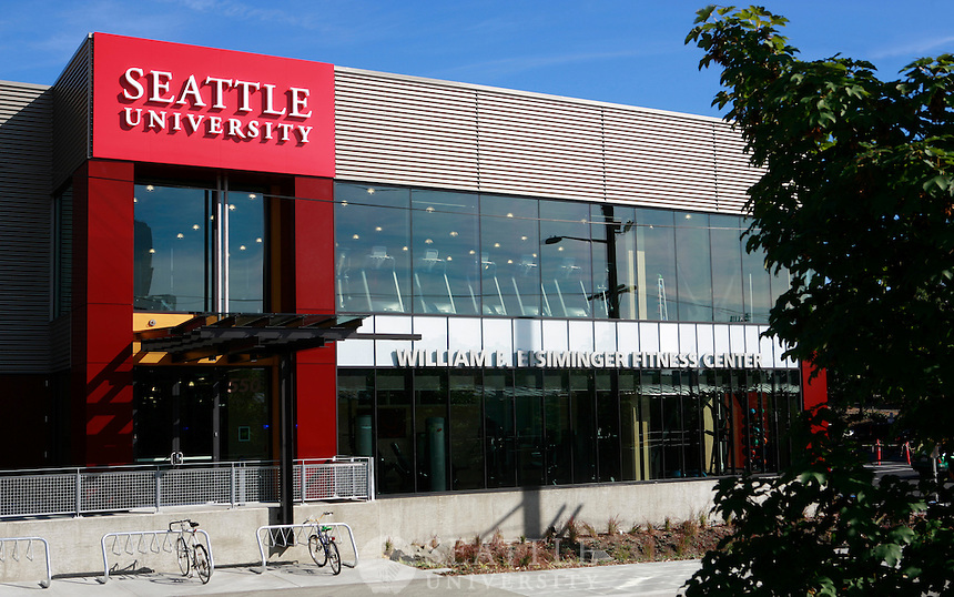 09202011 - An exterior view of the new Seattle University William Eisiminger Fitness Center.